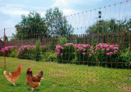 Сетка для домашней птицы с возможностью электрификации -  50 м, одинарное острие